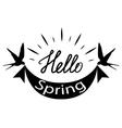 spring logo vector image