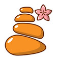 stones for spa icon cartoon style vector image vector image