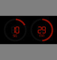 stopwatch timer digital red countdown vector image vector image