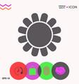sun icon symbol vector image vector image