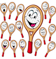 Tennis racket cartoon vector image vector image
