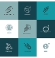 Universe astronomy thin line icons and vector image vector image