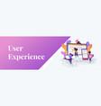 web design development web banner concept vector image vector image