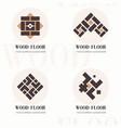 wood flooring company logos wood flooring company vector image vector image