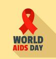 world aids day disease logo set flat style vector image