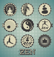 Zen Labels vector image