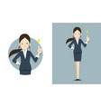 she give thumb up for work vector image