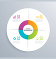 4 business circle infographic background template vector image vector image