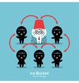 als ice bucket challenge concept vector image vector image