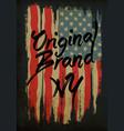 american broken flag vintage flag design vector image vector image