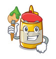 artist mustard bottle container cartoon with no vector image