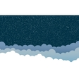 background Clouds Starry Sky Eps 10 vector image vector image