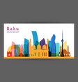 baku colorful architecture skyline vector image
