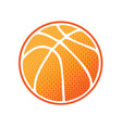 basketball orange logo vector image