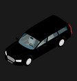 black hi-detailed passenger station wagon car vector image vector image