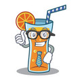 businessman cocktail character cartoon style vector image