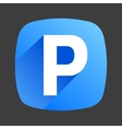 Car parking flat icon sign symbol logo vector image vector image