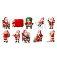 cartoon santa claus collections vector image vector image