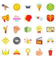 cash consideration icons set cartoon style vector image
