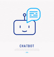 chatbot thin line icon vector image