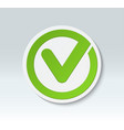 check mark button tick icon vector image