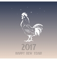 Chinese simbol of 2017 - rooster vector image vector image