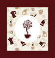 Coffee beans tree Background vector image