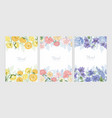 collection of floral backgrounds or card templates vector image