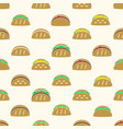 color tortilla tacos food icons seamless pattern vector image vector image