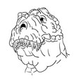 contour head dinosaur vector image