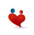 couple heart family figures icon vector image vector image