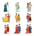 Couples In National Clothes Set vector image vector image