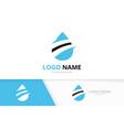 creative blue water logo combination oil vector image