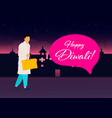 creative diwali festival template design happy vector image vector image