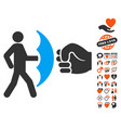 crime protection icon with lovely bonus vector image vector image