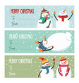 cute flat design christmas labels collection with vector image