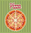 delicious italian pizza label vector image