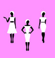 fashion woman french style model silhouettes vector image