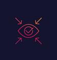 focus linear icon vector image vector image