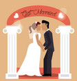 get married couple holding hand love vector image vector image