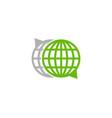 globe chat logo icon design vector image vector image