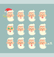 grandfather emoticons set vector image vector image