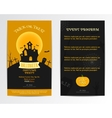 Halloween card invitation vector image vector image