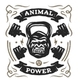 Head gorilla weight Shirt design vector image