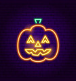 jack o lantern neon sign vector image vector image