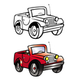 jeep coloring book vector image vector image