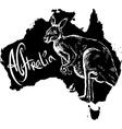 Kangaroo on map of Australia vector image vector image