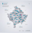 kosovo map with infographic elements pointer marks vector image vector image