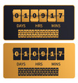 luxury golden countdown clock digits board new vector image