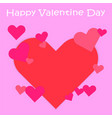 many hearts on pink background vector image